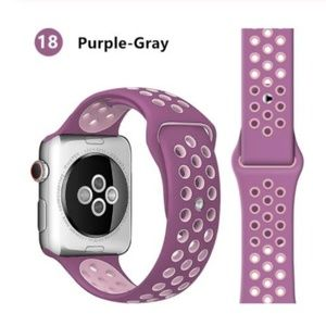 NEW Mauve Pink Sport Silicone Band For Apple Watch